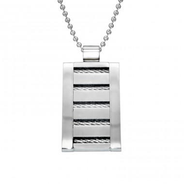 Tag - 316L Surgical Grade Stainless Steel Steel Necklaces A4S28424