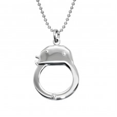 Handcuff - 316L Surgical Grade Stainless Steel Steel Necklaces A4S28425
