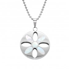 Flower - 316L Surgical Grade Stainless Steel Steel Necklaces A4S28427