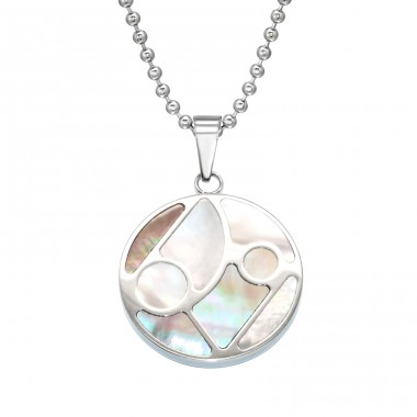 Mosaic - 316L Surgical Grade Stainless Steel Steel Necklaces A4S28428