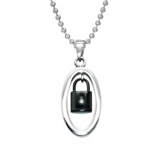 Lock - 316L Surgical Grade Stainless Steel Steel Necklaces A4S28429