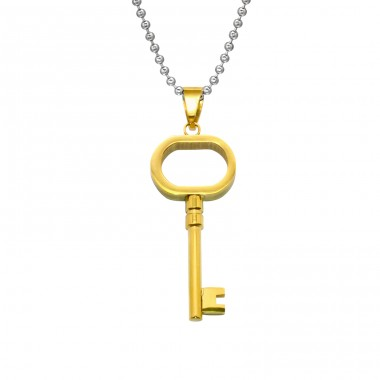 Key - 316L Surgical Grade Stainless Steel Steel Necklaces A4S28440