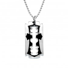 Razor Blade - 316L Surgical Grade Stainless Steel Steel Necklaces A4S28443