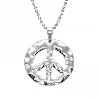 Peace - 316L Surgical Grade Stainless Steel Steel Necklaces A4S28446