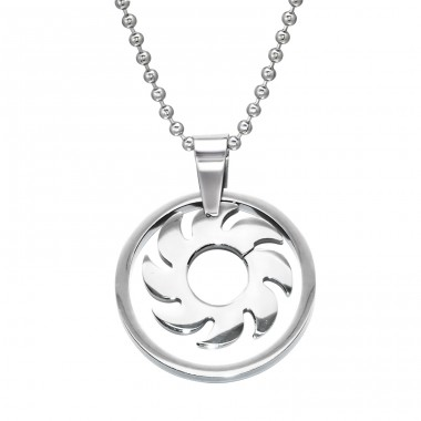 Gear - 316L Surgical Grade Stainless Steel Steel Necklaces A4S28447