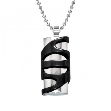 Patterned - 316L Surgical Grade Stainless Steel Steel Necklaces A4S28450