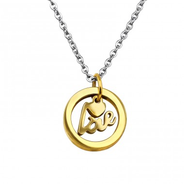 Love Charm - 316L Surgical Grade Stainless Steel Steel Necklaces A4S30004