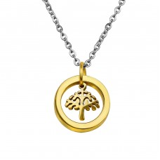 Tree Of Life - 316L Surgical Grade Stainless Steel Steel Necklaces A4S30008