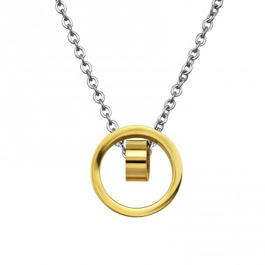 Geometric - 316L Surgical Grade Stainless Steel Steel Necklaces A4S30010