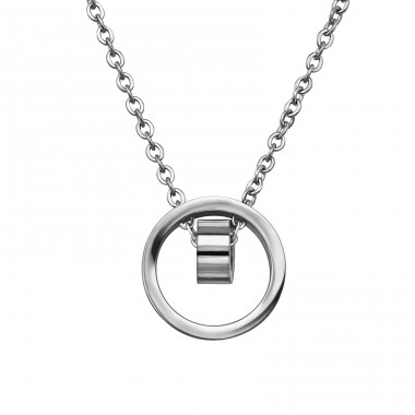 Geometric - 316L Surgical Grade Stainless Steel Steel Necklaces A4S30011