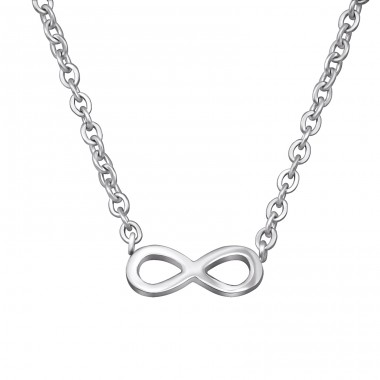 Infinity - 316L Surgical Grade Stainless Steel Steel Necklaces A4S30012