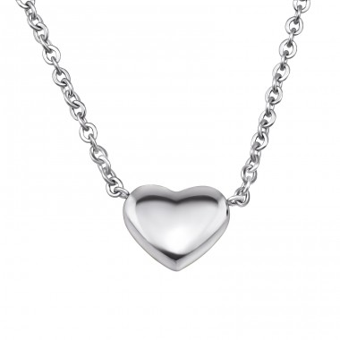 Heart - 316L Surgical Grade Stainless Steel Steel Necklaces A4S30014