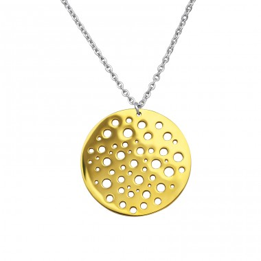 Disc - 316L Surgical Grade Stainless Steel Steel Necklaces A4S30026