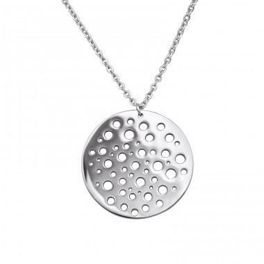 Disc - 316L Surgical Grade Stainless Steel Steel Necklaces A4S30027