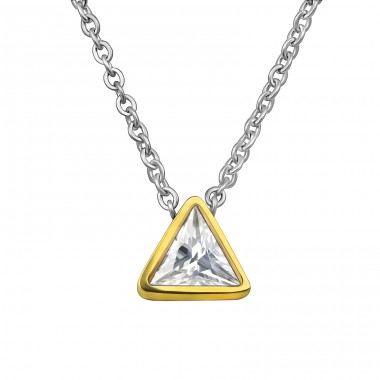 Geometric - 316L Surgical Grade Stainless Steel Steel Necklaces A4S30196