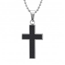 Cross - 316L Surgical Grade Stainless Steel Steel Necklaces A4S31620