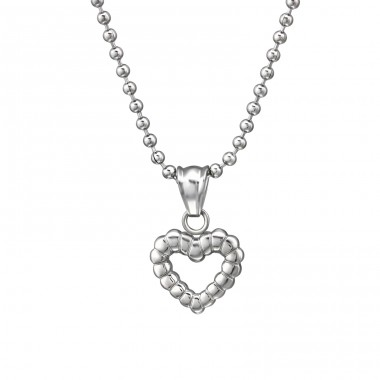 Heart - 316L Surgical Grade Stainless Steel Steel Necklaces A4S31625