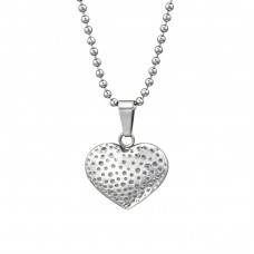 Heart - 316L Surgical Grade Stainless Steel Steel Necklaces A4S31629
