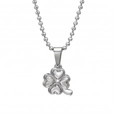 Lucky Clover - 316L Surgical Grade Stainless Steel Steel Necklaces A4S31824