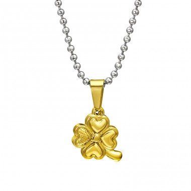 Lucky Clover - 316L Surgical Grade Stainless Steel Steel Necklaces A4S31825