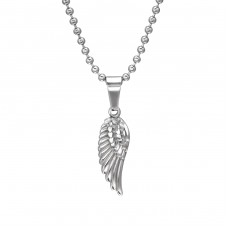 Wing - 316L Surgical Grade Stainless Steel Steel Necklaces A4S31826