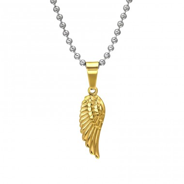 Wing - 316L Surgical Grade Stainless Steel Steel Necklaces A4S31827