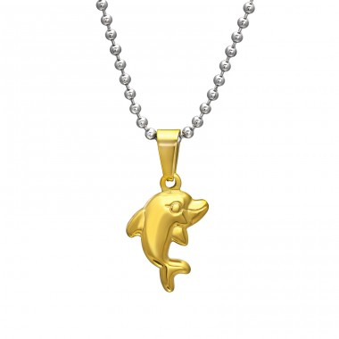 Dolphin - 316L Surgical Grade Stainless Steel Steel Necklaces A4S31828