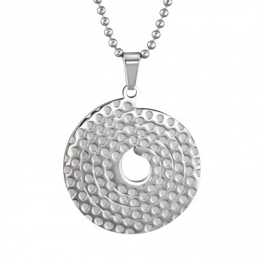 Disc - 316L Surgical Grade Stainless Steel Steel Necklaces A4S31831