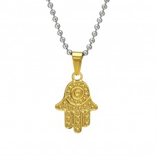 Hamsa - 316L Surgical Grade Stainless Steel Steel Necklaces A4S31834