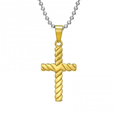 Cross - 316L Surgical Grade Stainless Steel Steel Necklaces A4S31838
