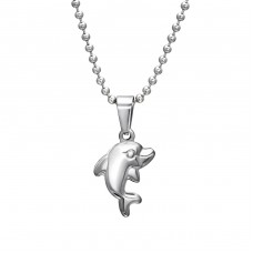 Dolphin - 316L Surgical Grade Stainless Steel Steel Necklaces A4S31902