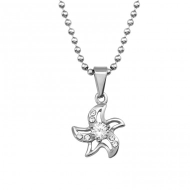 Starfish - 316L Surgical Grade Stainless Steel Steel Necklaces A4S34737