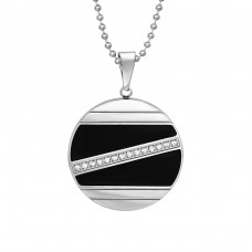 Round - 316L Surgical Grade Stainless Steel Steel Necklaces A4S37737