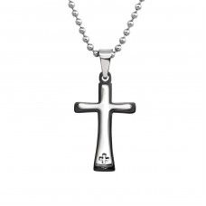 Cross - 316L Surgical Grade Stainless Steel Steel Necklaces A4S38227