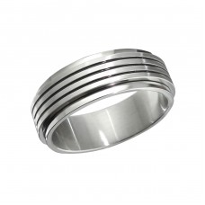Band - 316L Surgical Grade Stainless Steel Steel Rings for Men A4S11726