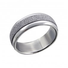 Band - 316L Surgical Grade Stainless Steel Steel Rings for Men A4S14330
