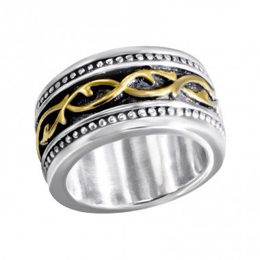 Band - 316L Surgical Grade Stainless Steel Steel Rings A4S15207