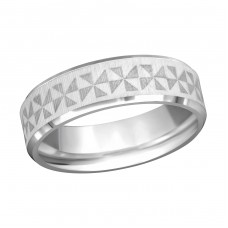 Band - 316L Surgical Grade Stainless Steel Steel Rings A4S1918