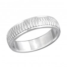 Band - 316L Surgical Grade Stainless Steel Steel Rings A4S261