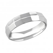 Band - 316L Surgical Grade Stainless Steel Steel Rings for Men A4S266