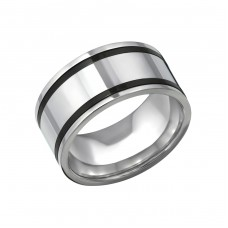 Band - 316L Surgical Grade Stainless Steel Steel Rings for Men A4S31853