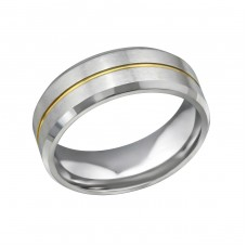 Line - 316L Surgical Grade Stainless Steel Steel Rings for Men A4S32602