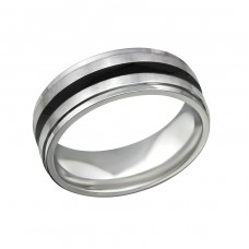 Band - 316L Surgical Grade Stainless Steel Steel Rings for Men A4S32603