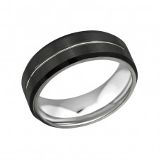 Line - 316L Surgical Grade Stainless Steel Steel Rings for Men A4S32606