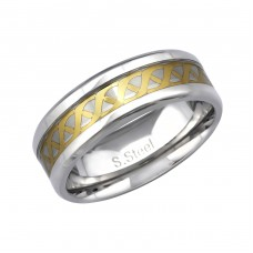 Two Tone Celtic - 316L Surgical Grade Stainless Steel Steel Rings A4S34153
