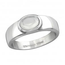 Oval - 316L Surgical Grade Stainless Steel Steel Rings for Men A4S37727