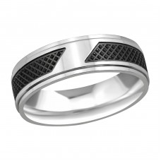 Two Tone - 316L Surgical Grade Stainless Steel Steel Rings for Men A4S37730