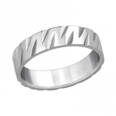 Band - 316L Surgical Grade Stainless Steel Steel Rings A4S5096