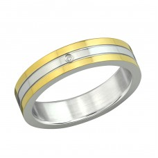 Band - 316L Surgical Grade Stainless Steel Steel Rings A4S6612
