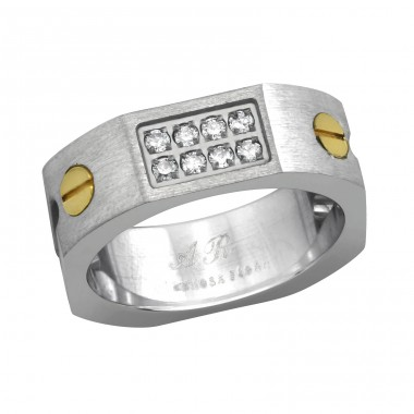 Band - 316L Surgical Grade Stainless Steel Steel Rings A4S7727